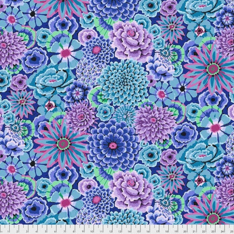 ENCHANTED in Blue PWGP172 Kaffe Fassett Collective Free image 0
