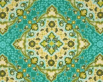 40% OFF SALE - Home Dec Heavyweight Cotton - Kaleidoscope in Basil  SAJD018 - Notting Hill - Joel Dewberry for Free Spirit Fabric  - By the