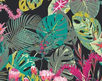 Tropicalia Dark EST-86502, ESOTERRA, Art Gallery Fabrics, Katarina Roccella, Cotton Fabric, Quilt Fabric, Hawaii Fabric, Fabric By The Yard