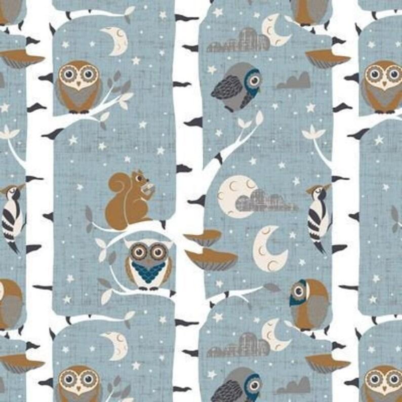 Stof Denmark Fabric HUSH A BYE WOODS 4500-832 Light Blue image 0