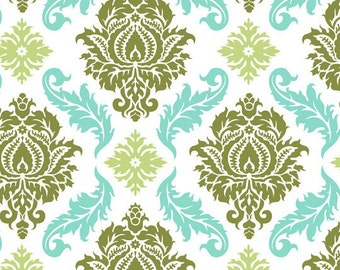 Joel Dewberry  - AVIARY 2 - Damask in Dill  JD43 - Free Spirit Fabric  - By the Yard