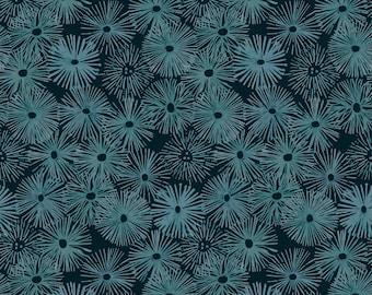 Urchin in Depths PWSR043, Shell Rummel, Free Spirit Fabric, Quilt Fabric, Cotton Fabric, Nautical Fabric, Beach Decor, Fabric By The Yard