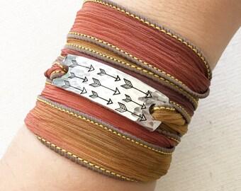Arrow Jewelry, Arrow Bracelet, Wrap Bracelet, Boho Jewelry, Boho Bracelet, Southwest Jewelry, Travel Jewelry, Adventure Jewelry
