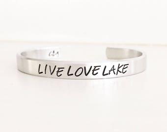 Live Love Lake, Lake Jewelry, Lake Bracelet, Lake Style, Summer Style, Summer Jewelry, Lake Love, Lake Girl