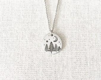Pine Tree Forest Necklace, Tree Necklace, Tree Jewelry, Nature Jewelry, Wilderness Jewelry, Forest Jewelry, Woodland Jewelry