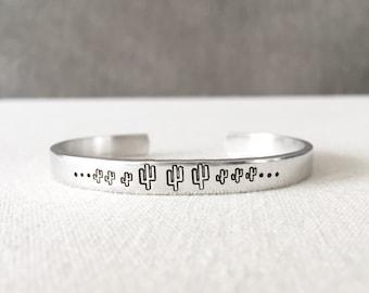 Cactus Bracelet, Cactus Jewelry, Plant Lady, Plant Lover Gift, Plant Jewelry, Boho Jewelry, Bohemian Jewelry, Boho Bracelet, Southwest