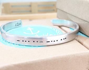 Morse Code Jewelry, Morse Code Bracelet, Custom Jewelry, Custom Bracelet, Code Bracelet, Personalized Gifts,  Custom Dates,
