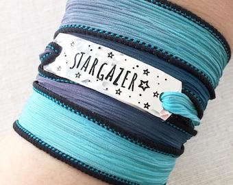 Stargazer Wrap Bracelet, Star Bracelet, Star Jewelry, Celestial Jewelry, Night Jewelry