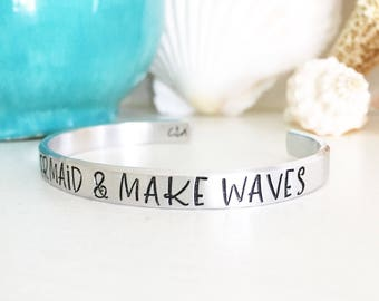 Be A Mermaid And Make Waves, Mermaid Jewelry, Sea Jewelry, Sea Bracelet, Beach Style, Coastal Style, Coastal Jewelry