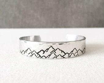 Mountain Bracelet, Mountain Jewelry, Mountain Hirl, Mountain Gift, Nature Jewelry, Travel, Travel Gift, Wanderlust