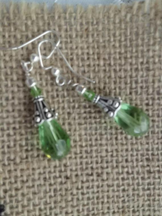 Kristallohrringe Träne Tropfen Ohrringe grünen