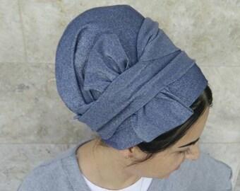 Handmade Lycra one wrap Mitpachat, wrap around, apron tichel, Jewish head covering, by oshratdesignz