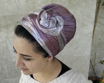 Two-sided chic head scarf, headscarf, Jewish head covering, mitpachat scarf