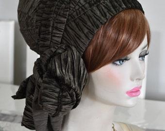 Tichel Scarves Head Wrap Cheveux Couvrant Couvre-chef chimio comme en cuir marron
