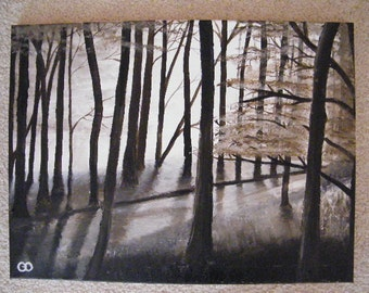 18x24 Guided Woods ORIGINAL painting
