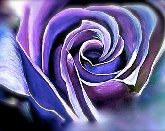 8x10 Quality print of the Purple Rose painting- free shipping