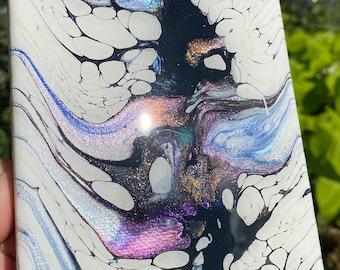 Gorgeous Abstract Acrylic Handpainted Art wResin Top Coat 10x10