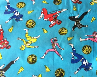 76722df2a4f Vintage Power Rangers Fabric Toss Print Crisp NOS MMPR Dino Force 1994  Saban Springs, kids room, retro 90s pop culture, LAST 2 Pieces