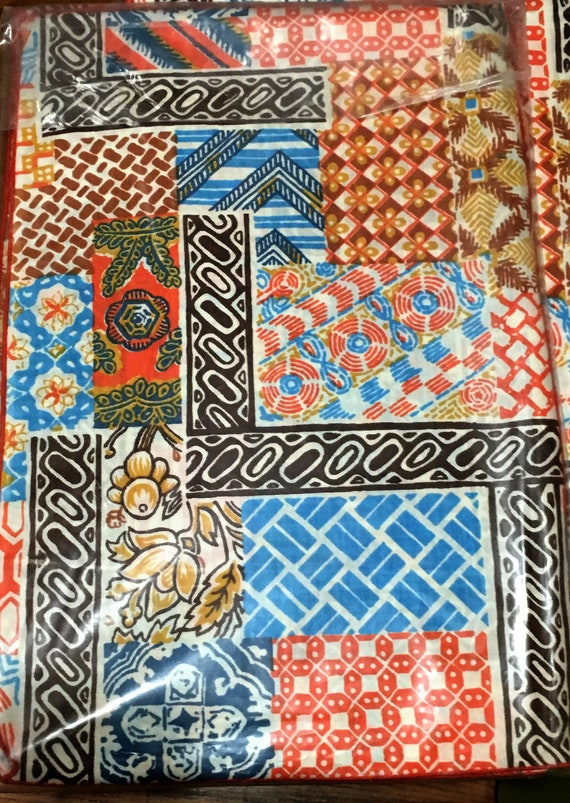 Vintage Fabric Elephant /& Rhino Jungle Animals Floral Cotton OOP Shamash BTY