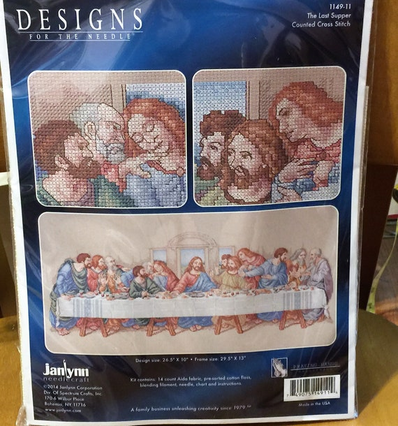 """Janlynn The Last Supper Counted Cross Stitch Kit-26.5/""""X10/"""" 14 Count"""