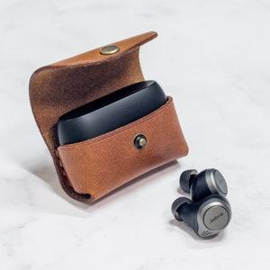 Jabra Elite 75t Wireless Earbuds Case Keychain Leather Etsy