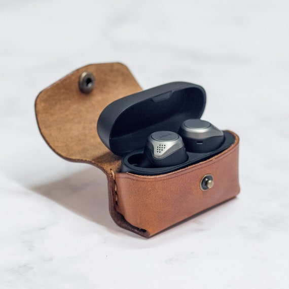 Jabra Elite 75t Wireless Earbuds Case Keychain Leather Etsy