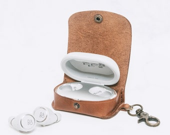 B&O Beoplay E8 3.0 Wireless Earbuds Case Keychain Leather Personalised Wireless Earphones Case Customize Leather Wireless Headphone