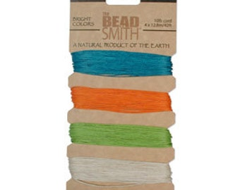 HEMP Bright Colors 4 Color Card .55MM 10 lb Test