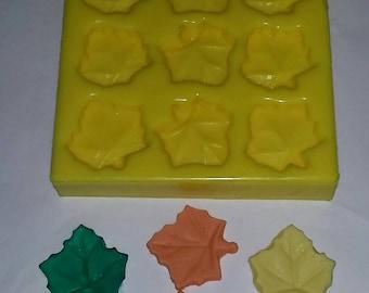 Leaf Embeds Soap & Candle Mold