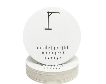 Hangman Coasters - Heavyweight Paper Game Coasters - Perfect for Weddings, Showers, Parties or any special event!