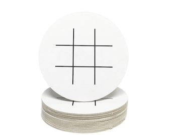 Tic Tac Toe Coasters - Heavyweight Paper Game Coasters - Perfect for Weddings, Showers, Parties or any special event!