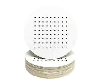 Dots and Boxes Coasters - Heavyweight Paper Game Coasters - Perfect for Weddings, Showers, Parties or any special event!