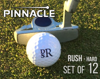 Personalized Golf Balls, Pinnacle Rush, Set of 12 Monogrammed Golf Balls, Gift for Dad - Father's Day Gift - Gift for Golfer