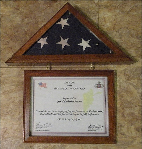New Walnut Or Oak Flag Display Case For 3x5 Capitol Flag Etsy