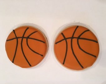 Basketball Cookie Birthday Favors for Boys & Girls - 1 Dozen