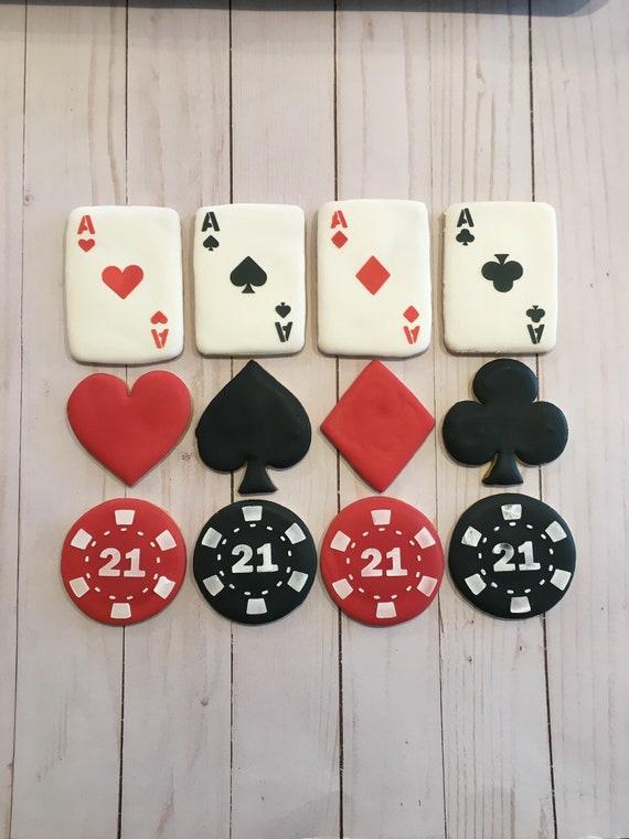 Poker Card Casino Las Vegas cookie cutter cake topper