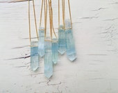 Aquamarine Necklace Aquamarine Pendant Necklace Aquamarine Jewelry Gemstone Necklace