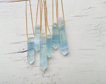 Aquamarine Necklace Aquamarine Pendant Necklace Aquamarine Jewelry Gemstone Necklace
