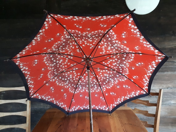 Vintage Umbrella | Boho Parasol | Wooden Umbrella