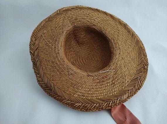 Vintage Straw Flower Hat | Floral Summer Hat | Su… - image 7