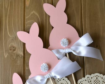 Some Bunny is One Centerpieces - Bunny First Birthday - Some Bunny is One Decor - Bunny Birthday Party -  Spring Birthday Party