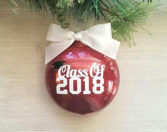 Graduation Ornament - Class of 2018 Ornament - Graduation Gift - Seniors 2018 - Christmas Ornament - High school Graduation Gift - College