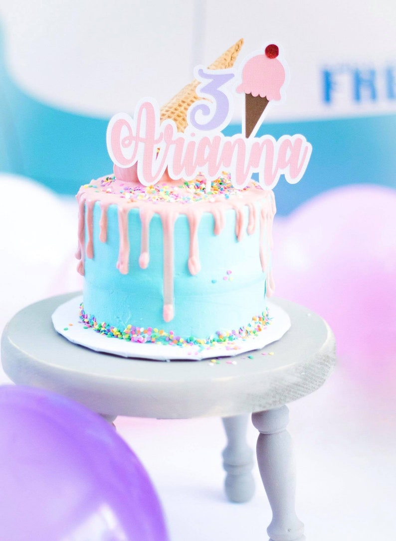 Ice Cream Cake Topper Birthday Party