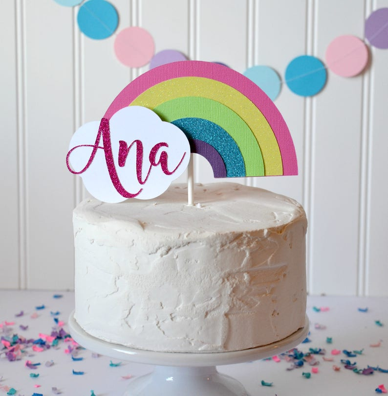 Rainbow Cake Topper First Birthday