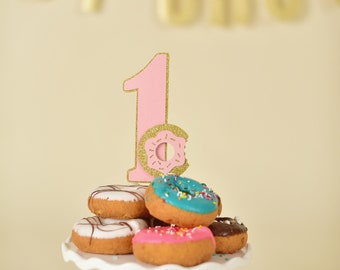 Donut Cake Topper - Donut Grow Up Party - Donut First Birthday - Donut Topper - Donut Party Decor - Donut Party Supplies - Donut Birthday