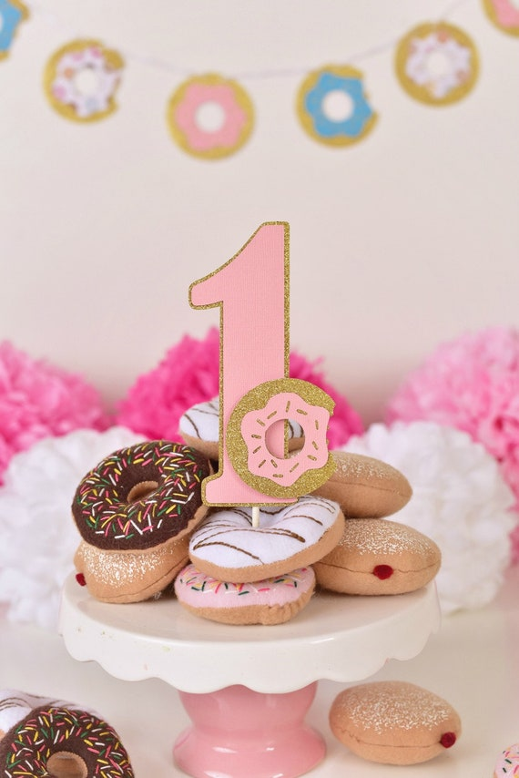 Donut Cake Topper Donut First Birthday Donut Grow Up Party Etsy