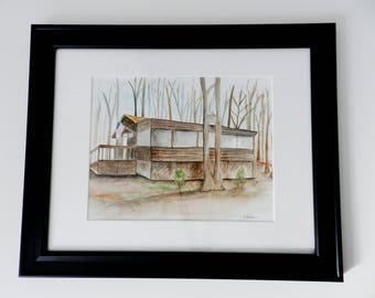 Custom Home Watercolor Portrait  Wedding Anniversary Gift. Housewarming Gift. Home Custom Art. Gift from Realtor. Watercolor House Painting