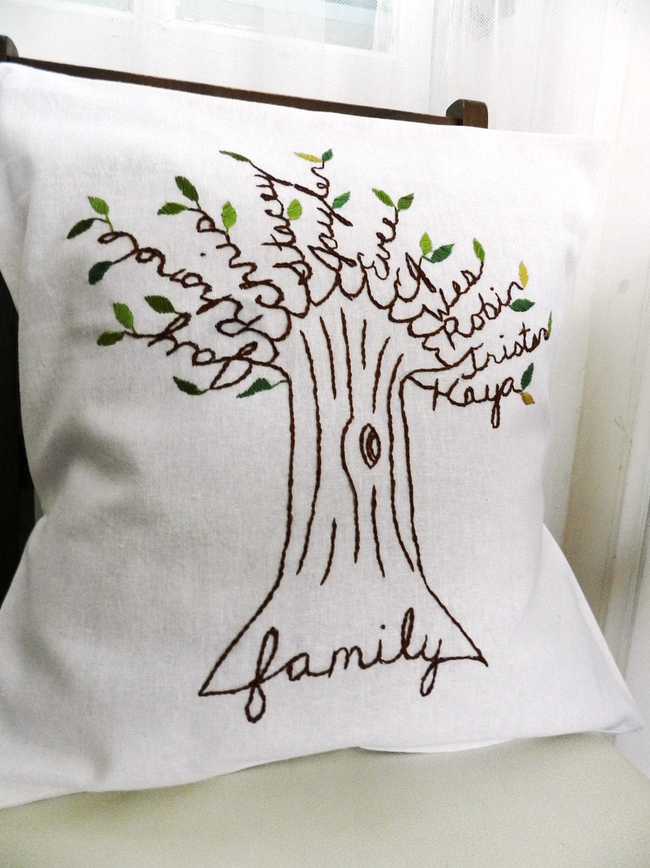 Family Tree Pillow Gift for Grandma Mother/'s Day Gift Gift for Mom
