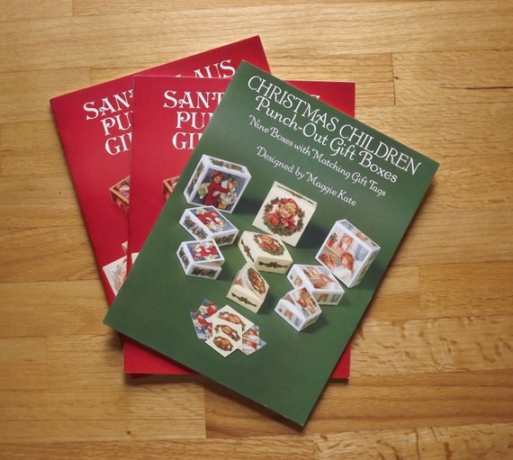 Christmas Gift Boxes Santa Claus Paper Box Victorian Gift Box Punch Out Gift Box Make Your Own Small Gift Box Vintage Dover Booklets