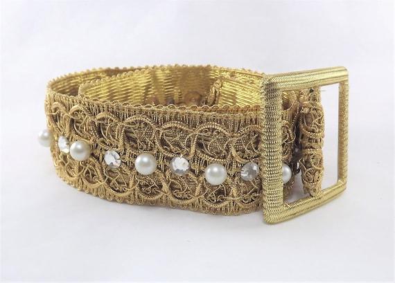 Metallic Gold Belt, Decorative Gold Belt, Diamond